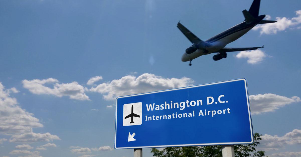 Rencontre avec ma famille d'accueil à l'aéroport de Washington DC.